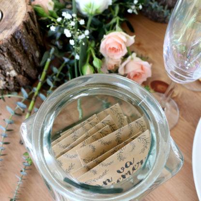 Sachets de graines personnalisés pour décorer sa table de mariage