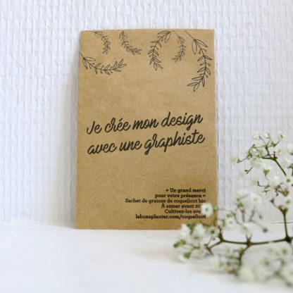 Créer son propre design pour des sachets de graines personnalisés en cadeau d'invités pour mariage