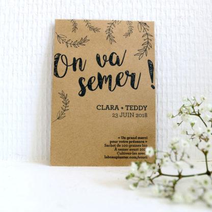 Offrir des sachets de graines à planter pour un mariage