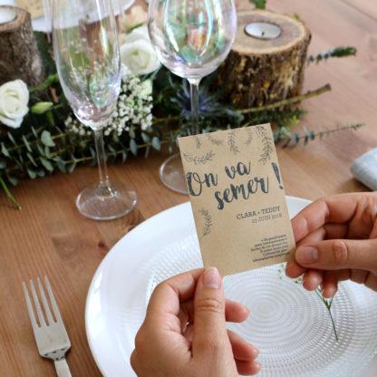 Des graines en cadeau d'invités pour un mariage