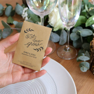 Seed packet to spread the love for a wedding
