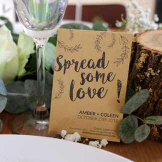 Wedding favor gift to spread the love