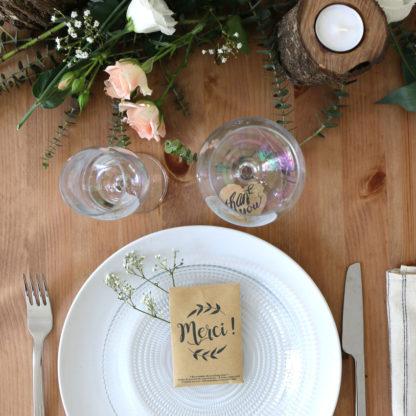 Décoration champêtre pour une table de mariage