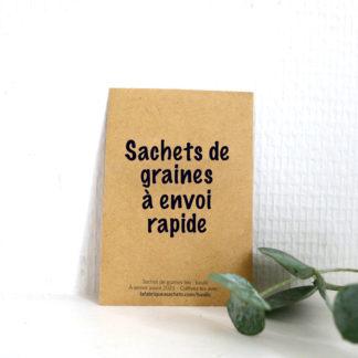Sachets de graines à envoi rapide !